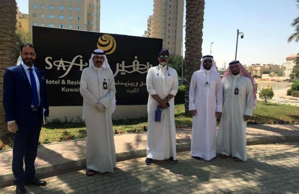 سفير المطار الكويت ينضم لمكافحة الكويت لاحتواء انتشار فيروس كورونا